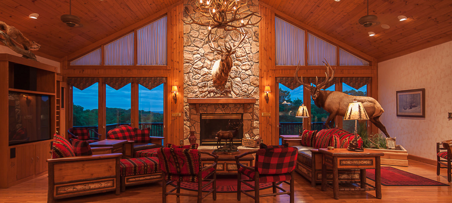 Photo of the Great Room at the Lodge.
